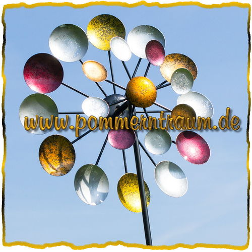 Windrad Windspiel Gartenstecker Kinetic Spinner ❤ GALAXY ❤ kugelgelagert